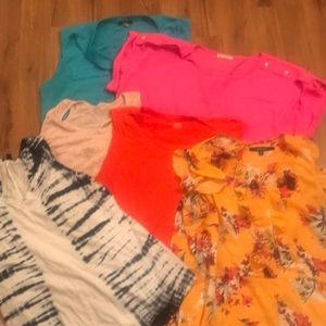 Tops - Lot of 6 plus size summer shirts